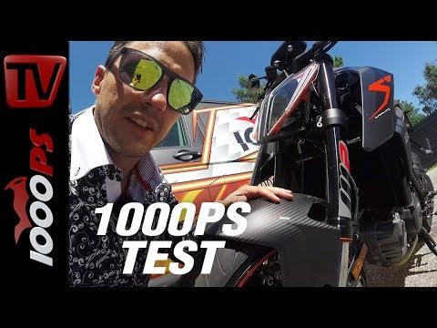 1000PS Test - KTM 1290 Super Duke R Landstraße - Sound - Wheely - technische daten