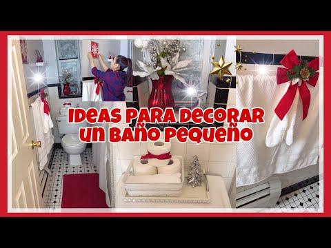IDEAS PARA DECORAR UN BAÑO PEQUEÑO EN NAVIDAD/NAVIDAD 2018/ DECORACIONES NAVIDEÑAS