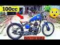 100cc Bobber ♥️  modified Bajaj Champion 100 Into Hardtail Bobber By Avi Custom  motomahal