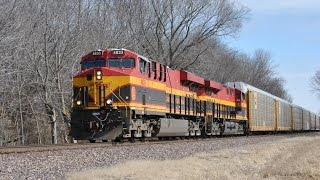 HD: February 2015 Trains w/ BNSF, KCS, UP, NS, CP, CN, & Heritage Units