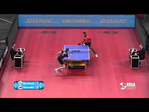 Liam Pitchford vs Sharath Kamal  Achanta (TTBL SELECTED)