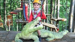 Rope Park Outdoor Fun - Climbing Adventure Family Park - Alligator Riding