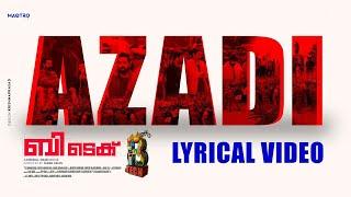 BTech - Azadi Lyric video | Asif Ali | Rahul Raj | Mridul Nair | Maqtro Pictures