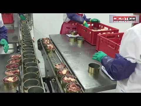 Линия производства мясных консервов (тушенка) BESTEQ MCL 1000 бан смена