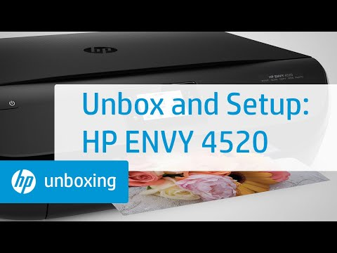 Unboxing, Setting Up, and Installing the HP ENVY 4520 Printer   HP