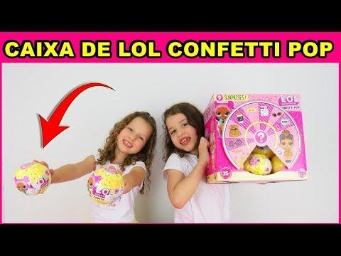 ABRINDO LOL CONFETTI POP VERDADEIRA E FALSA