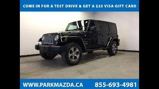 BLACK 2018 Jeep Wrangler JK Unlimited  Review Sherwood Park Alberta - Park Mazda