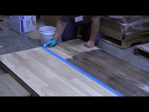 Staining A Hardwood Floor With Vinegar And Steel Wool Youtube