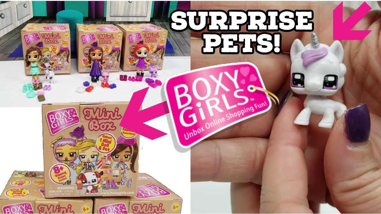 New BOXY GIRLS BROOKLYN Includes 4 Boxes 12 Surprise Inside