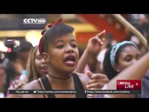 Students in South Africa take to the streets to protest high fees rate