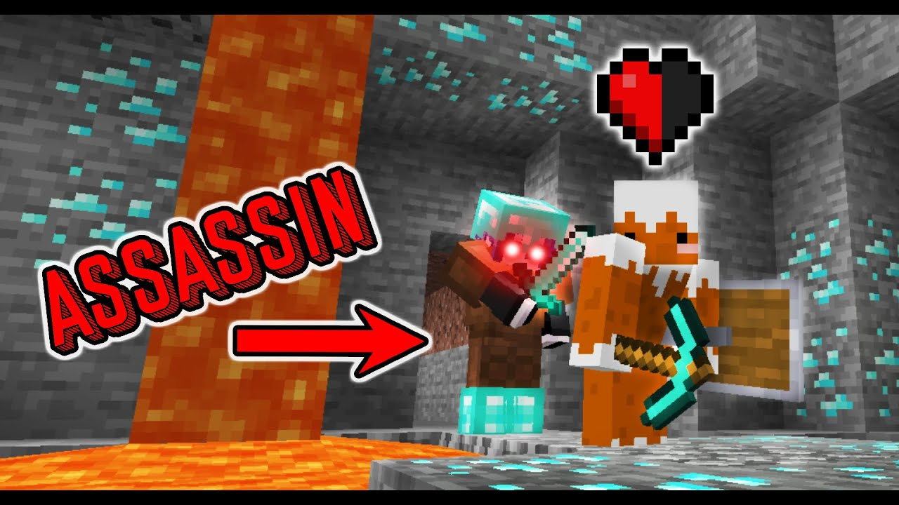 Minecraft, but if I get hit the video ends... VS Assassin