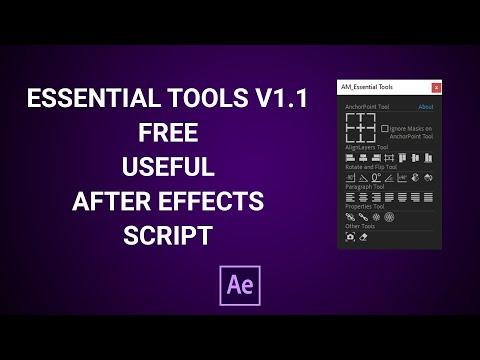 Free After Effects Script | AM Essential Tools Script V1.0 | Demo Tutorial