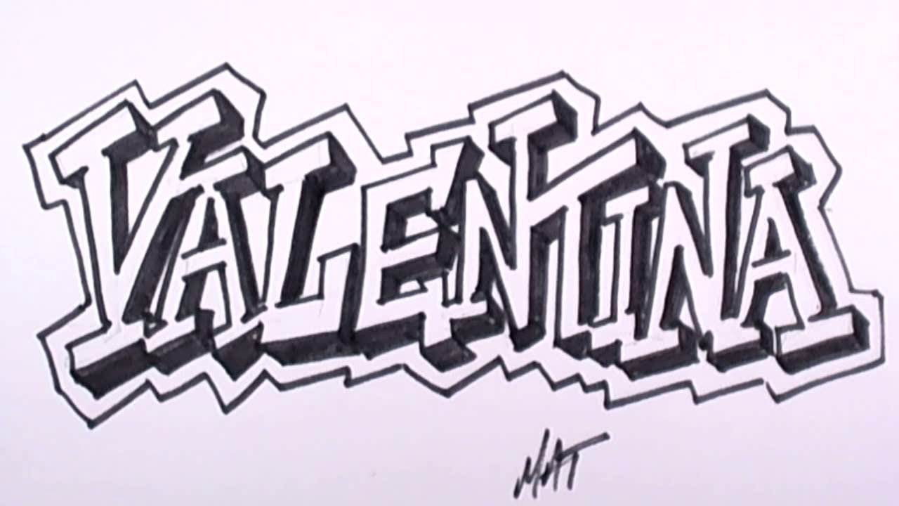 Graffiti Writing Valentina Name Design 29 in 50 Names Promotion