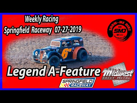 Legend A-Feature - Springfield Raceway 7-27-2019 #DirtTrackRacing @Midwest Sheet Metal http://msmfab.com/ @ShowMeDirt.com For photos head over to ... - dirt track racing video image