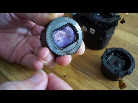 what's inside, Sony RX100 lens