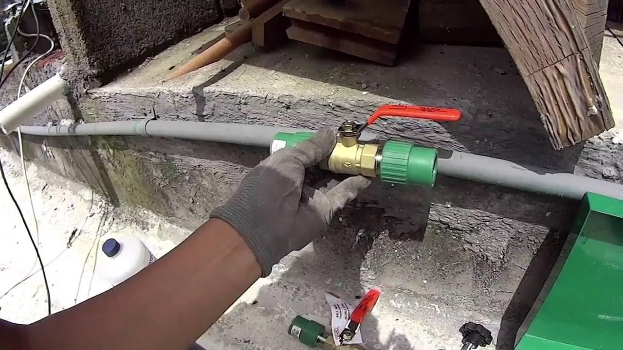 Tuboplus sistema de termofusion instalaci n de llave de for Llave tubo para valvula de ducha