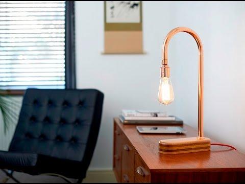 Handmade Copper Desk Lamp N Light