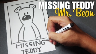 How to Draw a Cartoon - Mr.Bean Missing Teddy (Tutorial Step by Step)