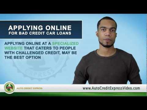 Applying Online for Bad Credit Car Loans