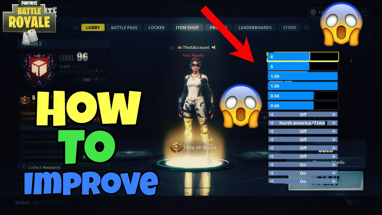 FORTNITE - BEST CONTROLLER SETTINGS FOR PS4/XBOX ONE ...