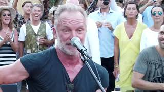 Sting sings at the party at Tenuta Il Palagio - Sting canta al party alla Tenuta Il Palagio