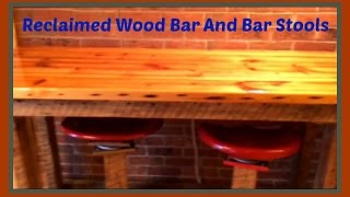Reclaimed wood Bar Table and Bar Stools