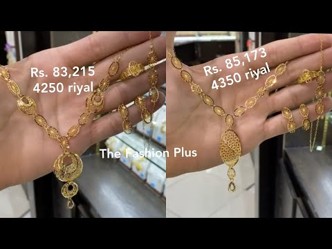 Light Weight Gold Combo Turkish Set Design with PRICE