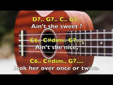 Aint She Sweet Chords By Sergio Uke Youtube