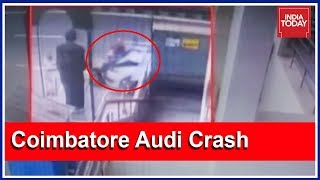 Crowd Thrashes Driver After Audi Crashes Into People Waiting For Bus In Coimbatore