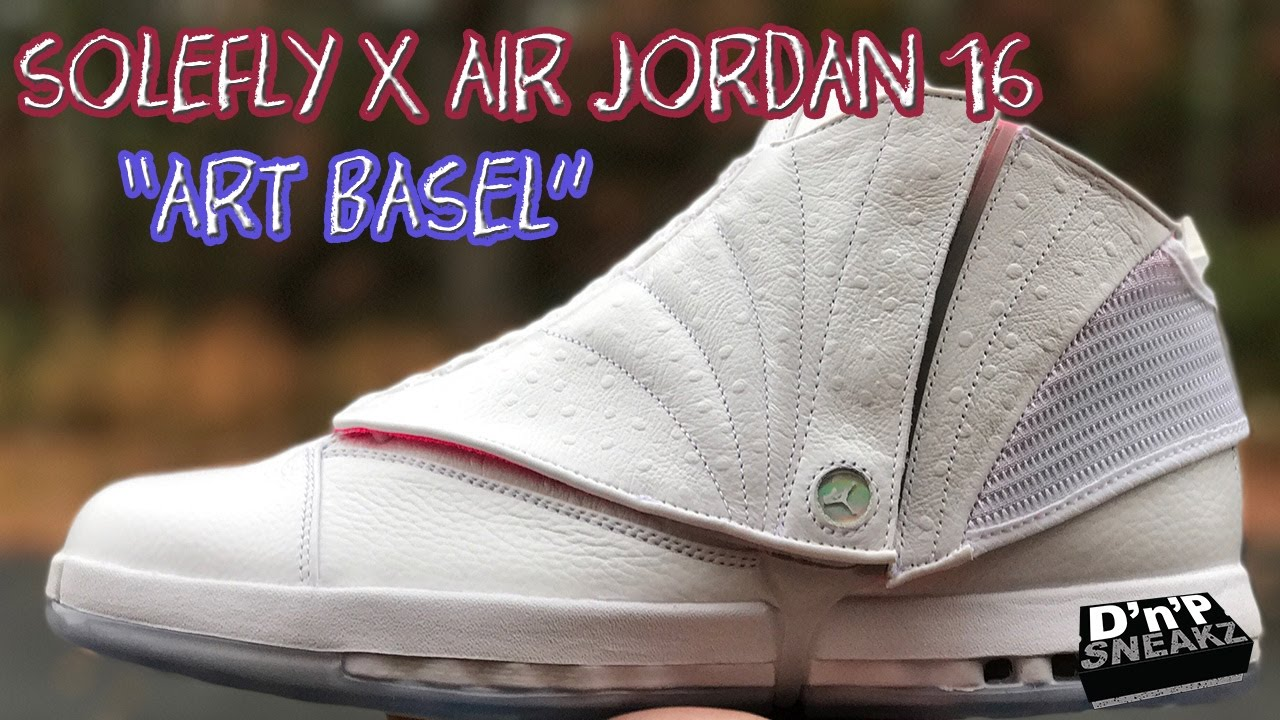 "0dd3db344257 Solefly X Air Jordan 16 ""Art Basel"" Review - YouTube"