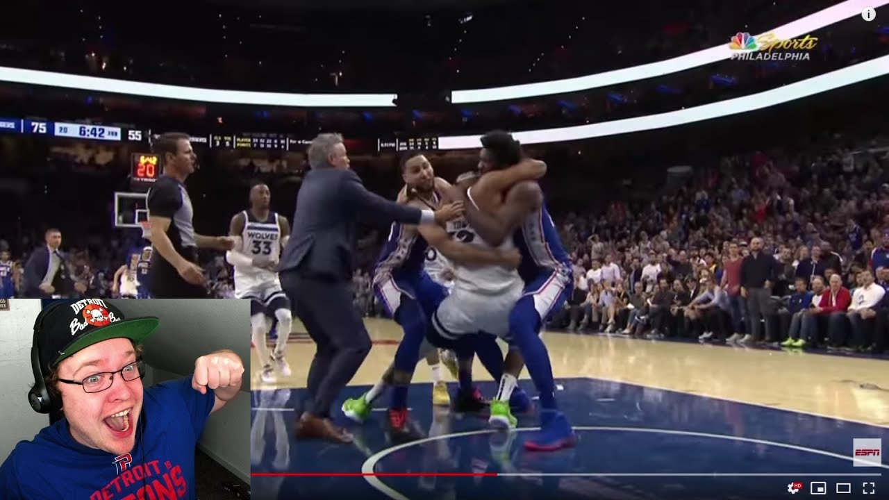Download Reacting To Joel Embiid vs Karl Anthony Towns Fight