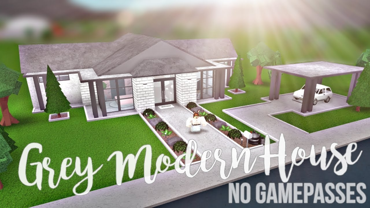 Bloxburg grey modern house no gamepasses 42k