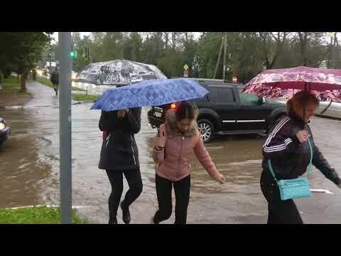 Затопленные улицы Пскова