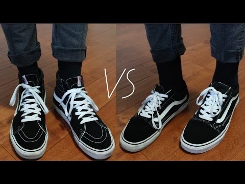 Vans Sk8 Hi S Vs Vans Old Skools Thrift Pickups Men S Fashion