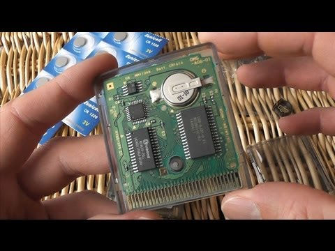 Game Boy Color - Cartridge Battery Mod - Game Save Battery Holder Hack - CR1220