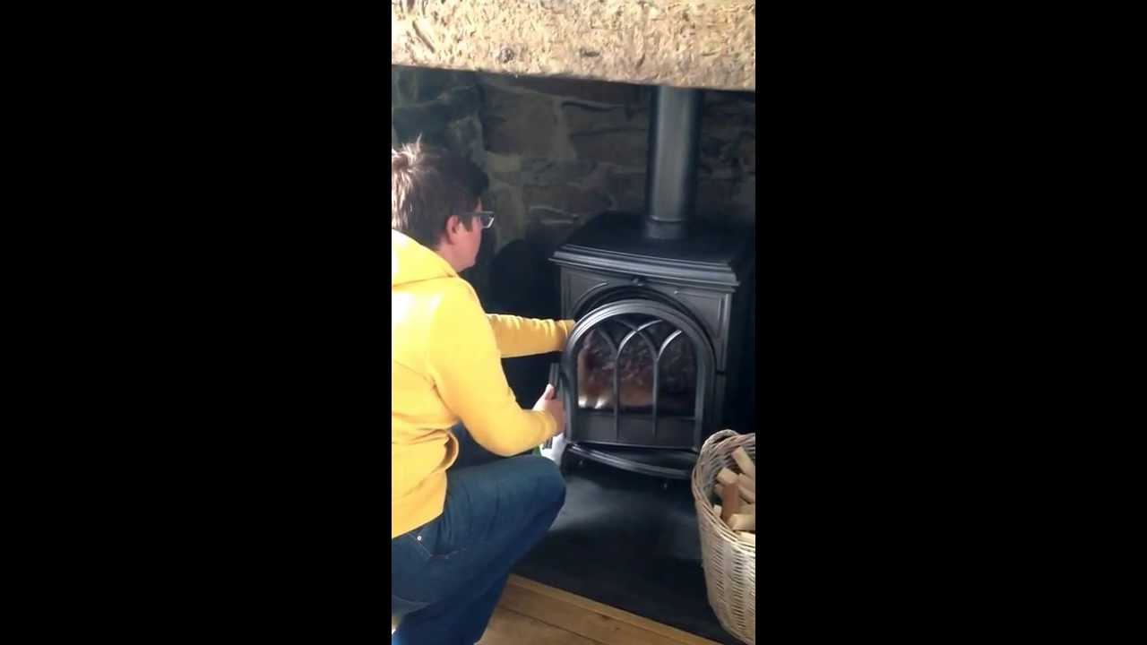 stove bird rescue starling had fallen down the chimney and was