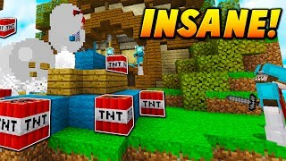 INSANE TNT KILL TROLLING! - Minecraft BED WARS TROLLING! (TNT GLITCH?)