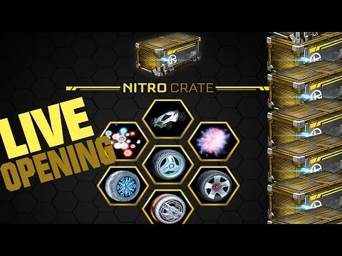 ROCKET LEAGUE NITRO CRATE HYPE - NEW ITEMS AND NEW MYSTERY DECAL!