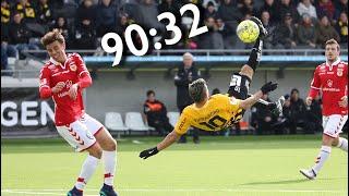 Sjuka sista minuten mål i Allsvenskan 2018