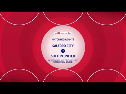 Salford Sutton Goals And Highlights