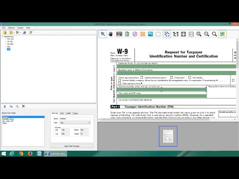 How to Use LEADTOOLS Master Forms Editor Demo