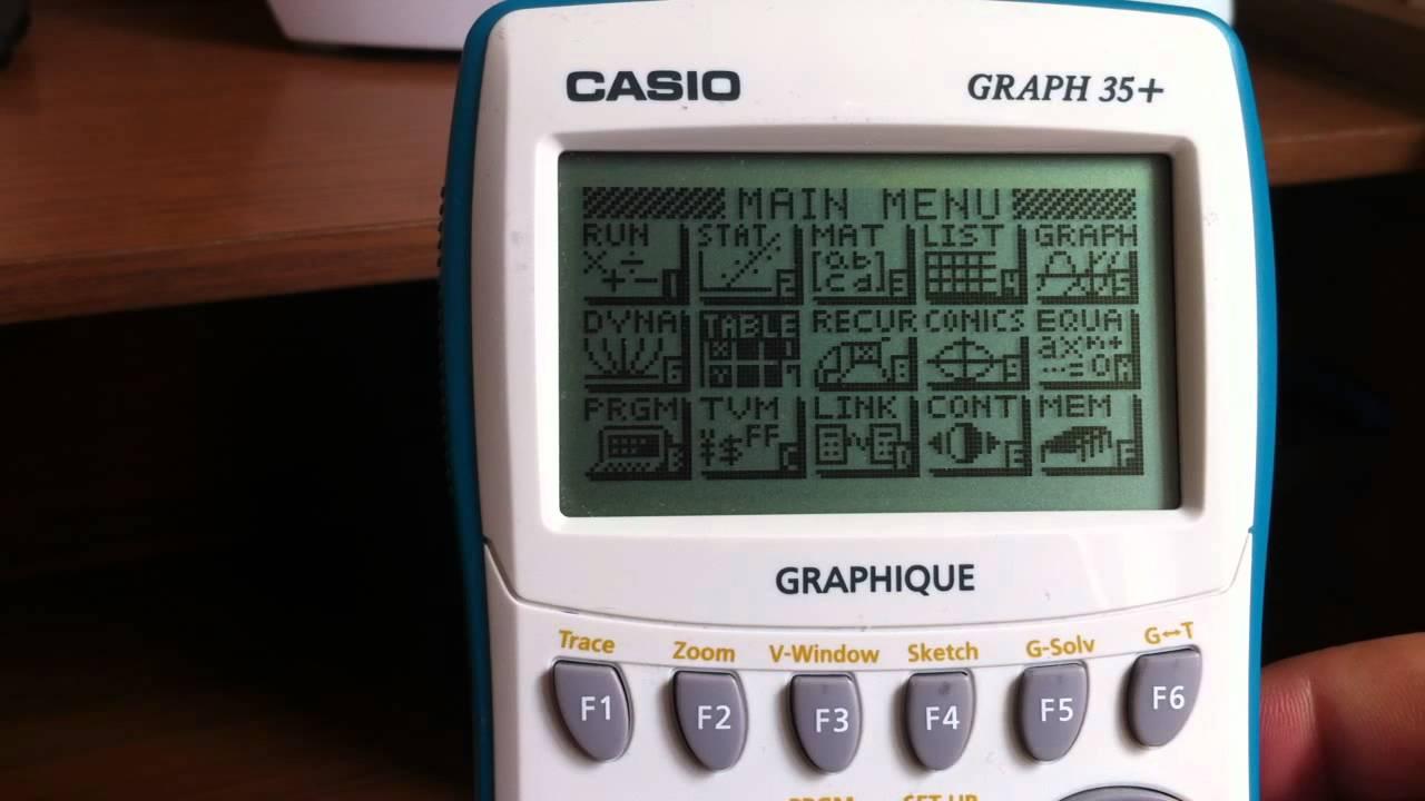 une calculette graphique