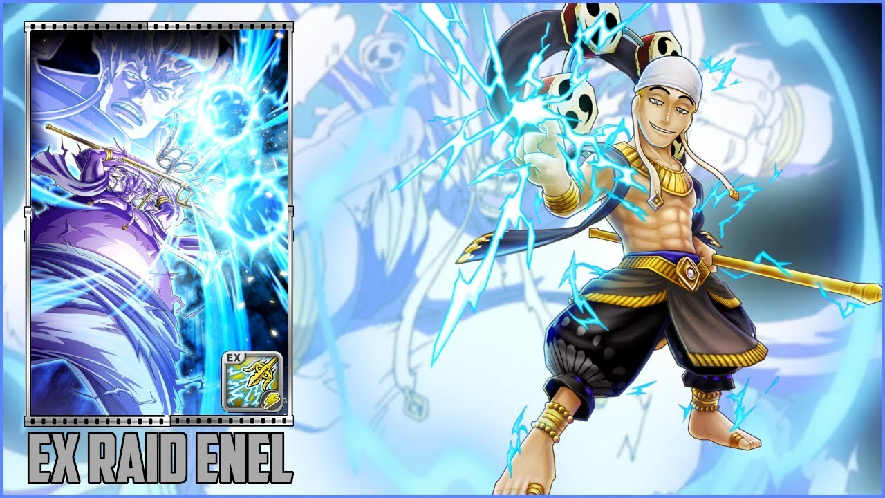 18/08/2021· enel's great space operations is the ninth cover story created as a side story on the title pages of each one piece chapter. One Piece Thousand Storm Jp Enel Eneru Ex Raid Opts How To Get Eneru Ex Skill Weekly Raid Youtube