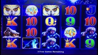 Akafuji JACKPOT/Handpay, 60 Free Spin Bonus Games(Retrigger x4 times) TIMBER WOLF DELUXE Bet$5
