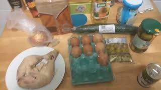 Как приготовить салат Оливье|Цена на ингредиенты Тенерифе