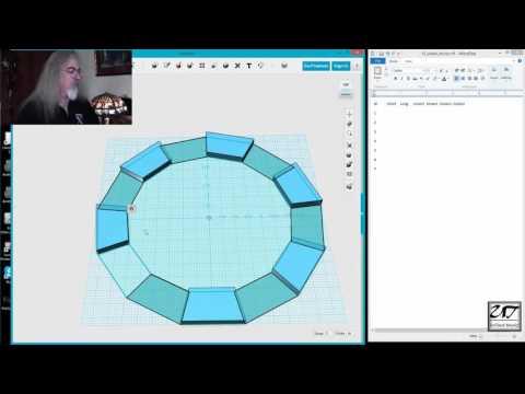 Part 1 of a 13 sided oval mahagony mirror frame build