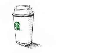 손그림 스타벅스 텀블러 그리기 - Starbucks t…