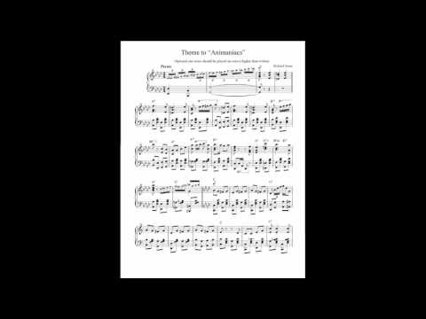 Animaniacs Theme piano sheet music transcription