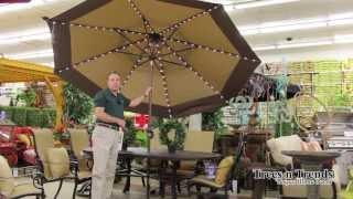 Starlight Patio Umbrella by Treasure Garden- Trees n Trends - Unique Home Decor Thumbnail