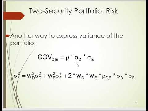 OPtimal risky portfolios PT1